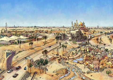 Dubailand Icon and Ruins