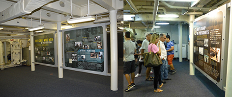 USS IOWA  Aft mess area transformed into Interpretive Center